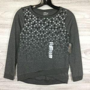 Bcg Grey Dot Criss Cross Pullover